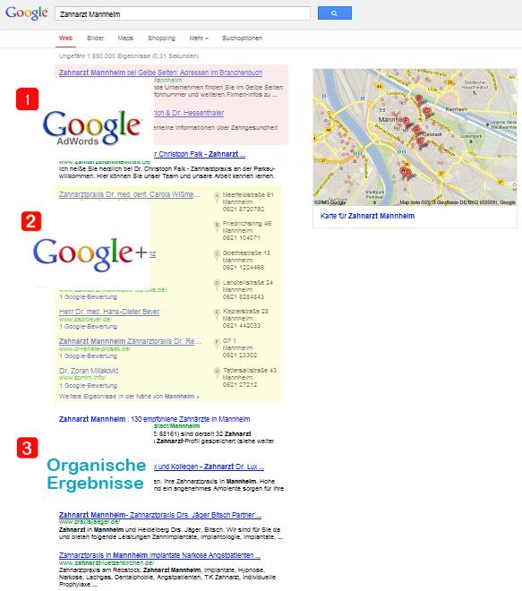 Suchmaschinenoptimierung, Organische Treffer, AdWords und Google + (Places und Loka!) für die Städte Karlsruhe, Gaggenau, Baden Baden, Rastatt und Mannheim!